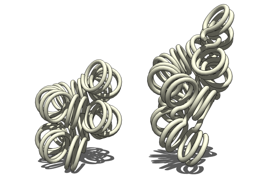 Recreación en 3D de filamentos de cromatina, en los que se empaquetan las moléculas de ADN con la información genética en las células. / Wikimedia Commons