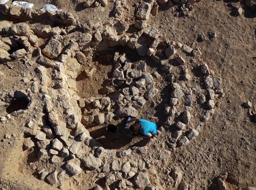 imagen de Yacimiento arqueológico de Nahal Efe, en Israel. / Foto: IMF