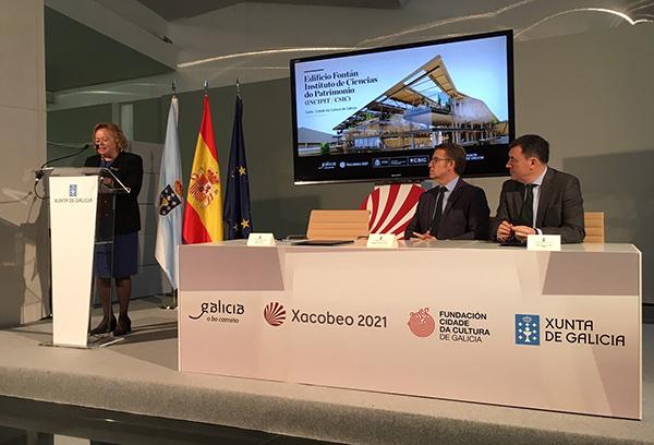 imagen de La presidenta del CSIC, Rosa Menéndez, durante su intervención.