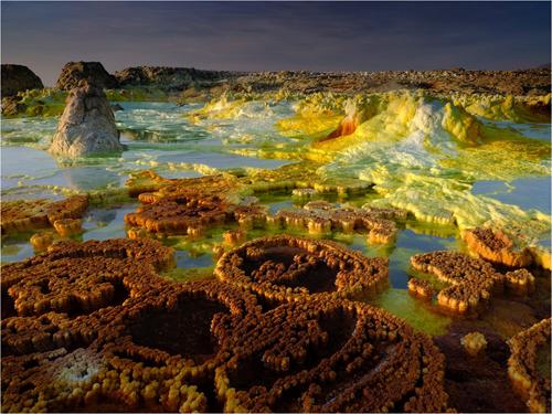 imagen de Sistema hidrotermal de Dallol, en Etiopía. / Foto: Olivier Grunewald