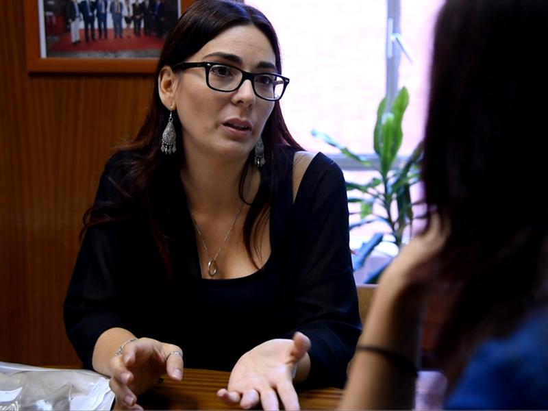 imagen de La investigadora Olga Rodríguez, durante la entrevista en el Centro Nacional de Investigaciones Metalúrgicas (CENIM) del CSIC / Sandra Díez