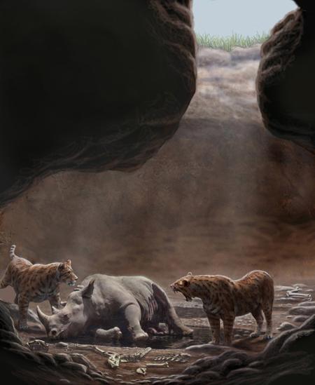 imagen de Recreación de una cueva en Batallones./ MAURICIO ANTÓN