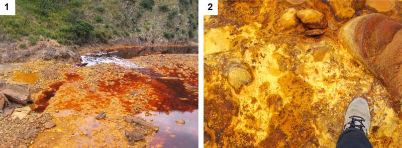 imagen de Cuenca del Río Tinto, un ambiente con alto contenido en hierro que se utiliza para simular habitats parecidos al marciano. / CSIC