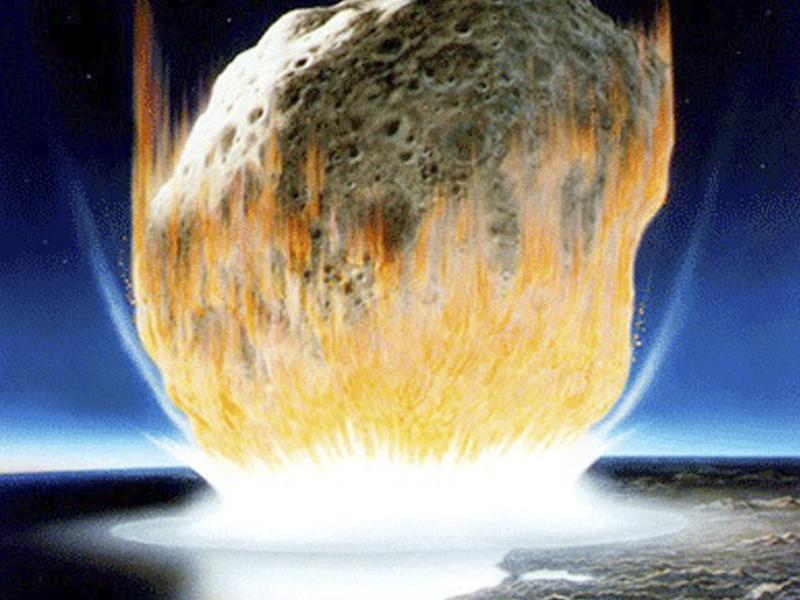 imagen de Recreación del impacto del meteorito en la península de Yucatán (México). / NASA / Don Davis