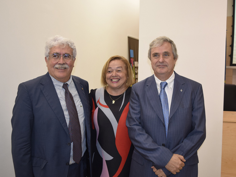 imagen de José Pío Beltrán, Rosa Menéndez y Juan Fuster. /CSIC