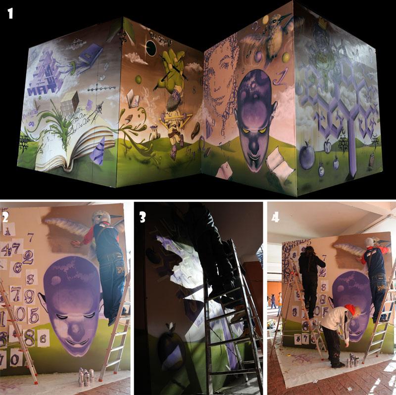 imagen de Mural de la actividad Graffiti y Matemáticas. / Foto: CSIC
