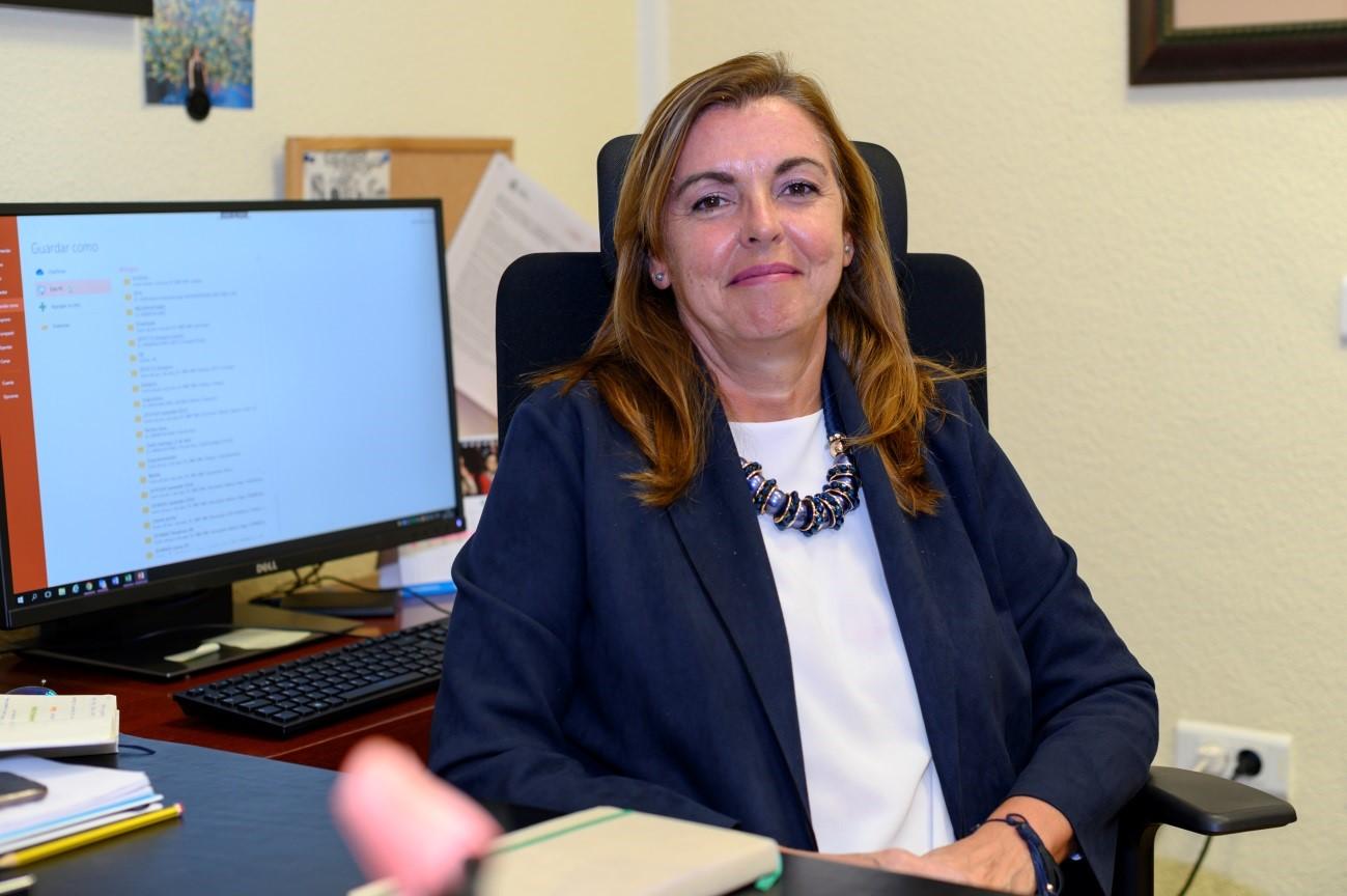 imagen de Marina Villegas, en su despacho de la Delegación del CSIC en Madrid. Foto: Yaiza González