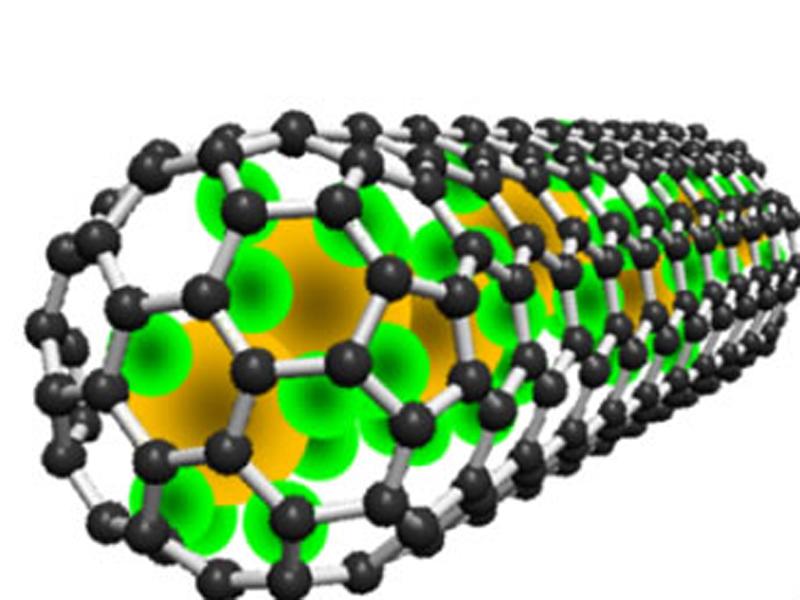 imagen de La nanocápsula de carbono con átomos de samario es irradiada para destruir los tumores. / ICMAB