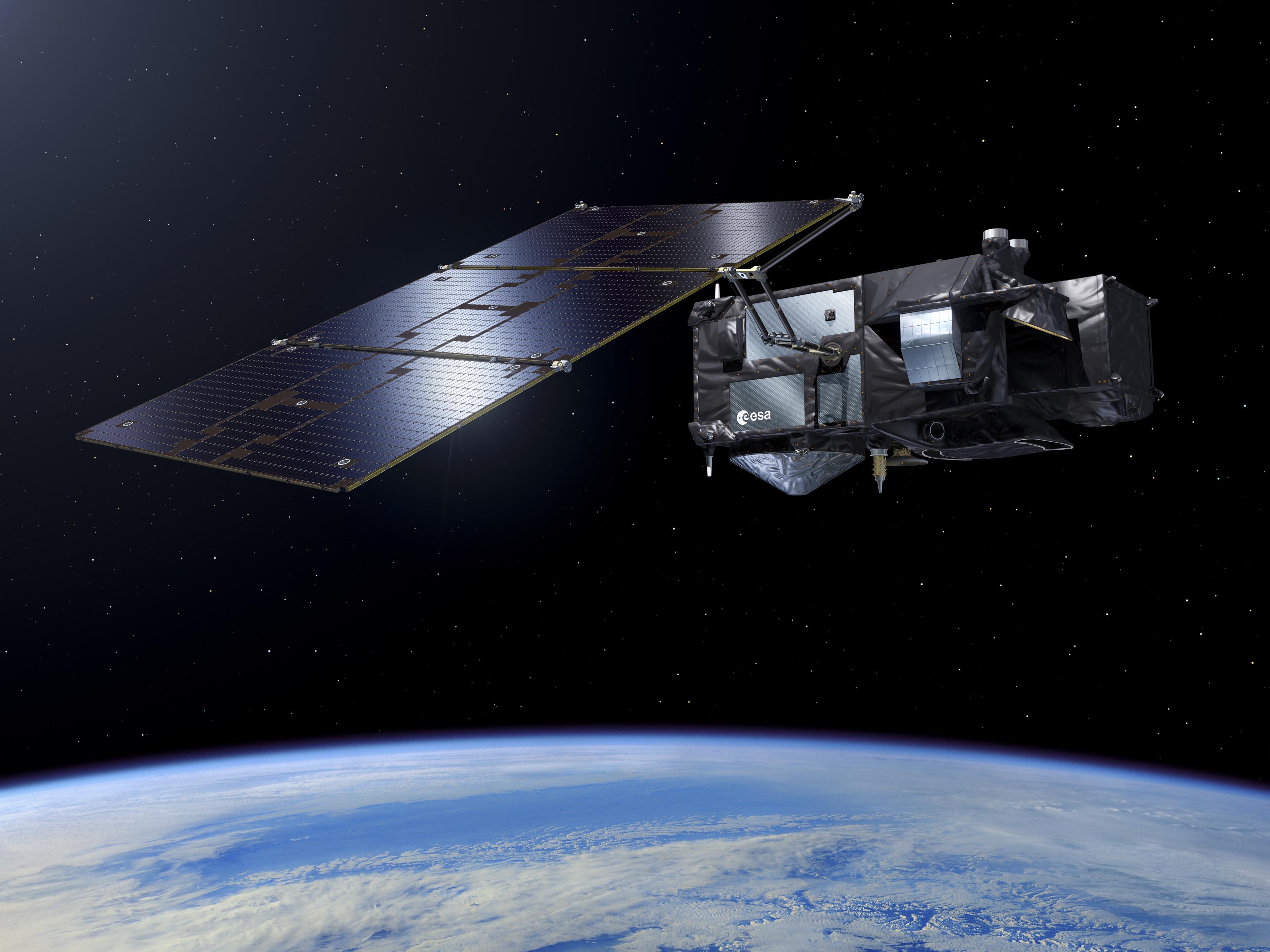 imagen de El satélite Sentinel-3 de la Agencia Espacial Europea proporciona información del nivel del mar a partir del cual se pueden derivar corrientes superficiales./ ESA