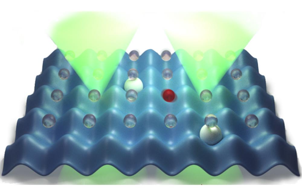 imagen de Visión artística de la propuesta: átomos red óptica./ J. Argüello-Luengo