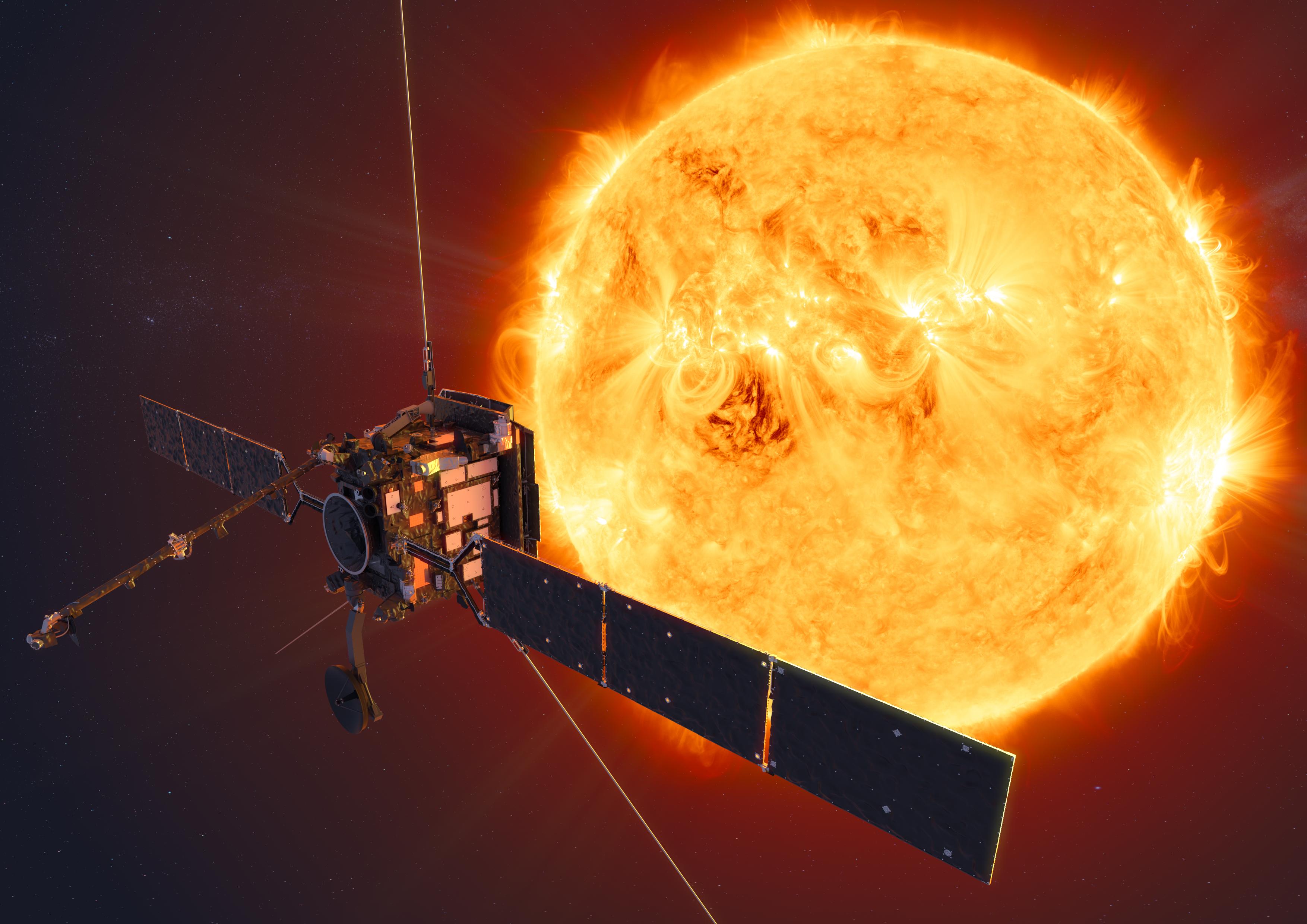 imagen de Concepción artística de la misión Solar Orbiter (ESA/ATG medialab)