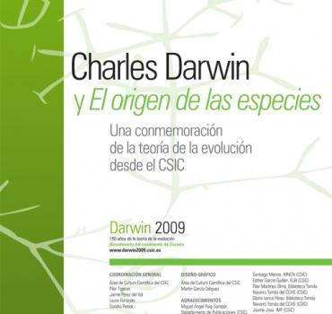 cartel DARWIN2009. 150 AÑOS DE LA TEORÍA DE LA EVOLUCIÓN