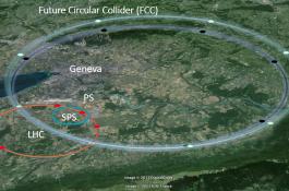 Representación de los anillos del LHC y FCC./ CSIC-ICMAB
