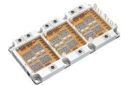 Diagrama de un módulo de electrónica de potencia basado en semiconductores para vehículos eléctricos e híbridos.