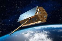 Ilustración que muestra el satélite PAZ. / CSIC / Hisdesat.