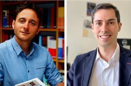A la izquierda, Gonzalo Prieto, del ITQ, y a la derecha, Alberto Enciso, del ICMAT./ CSIC/ LAURA MORENO