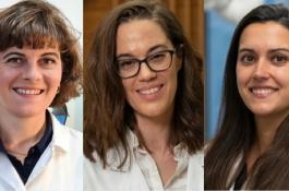 De izquierda a derecha, María Retuerto, Judith Birkenfeld y Sonia Ruiz. / CSIC-L'ORÉAL-UNESCO