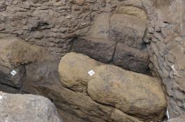 Restos de la muralla del siglo IV a.C. hallados bajo la EEHAR-CSIC. / Antonio Pizzo / EEHAR-CSIC