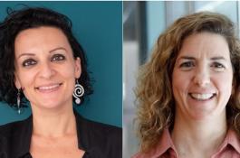 A la izquierda, Nanda Rea, y a la derecha, Guillermina López-Bendito./ FBSabadell