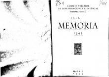 Portada Memoria 1943