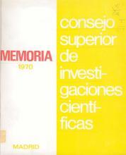 Portada Memoria 1970