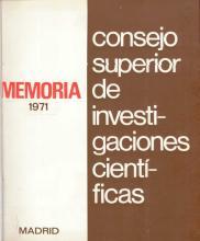Portada Memoria 1971