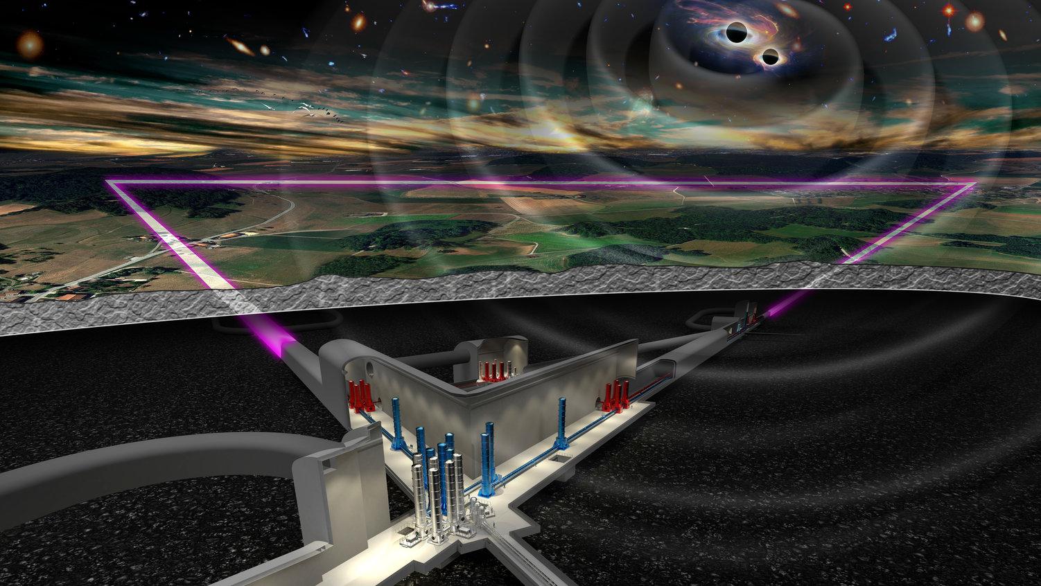 imagen de Ilustración del proyecto Telescopio Einstein / NIKHEF Amsterdam