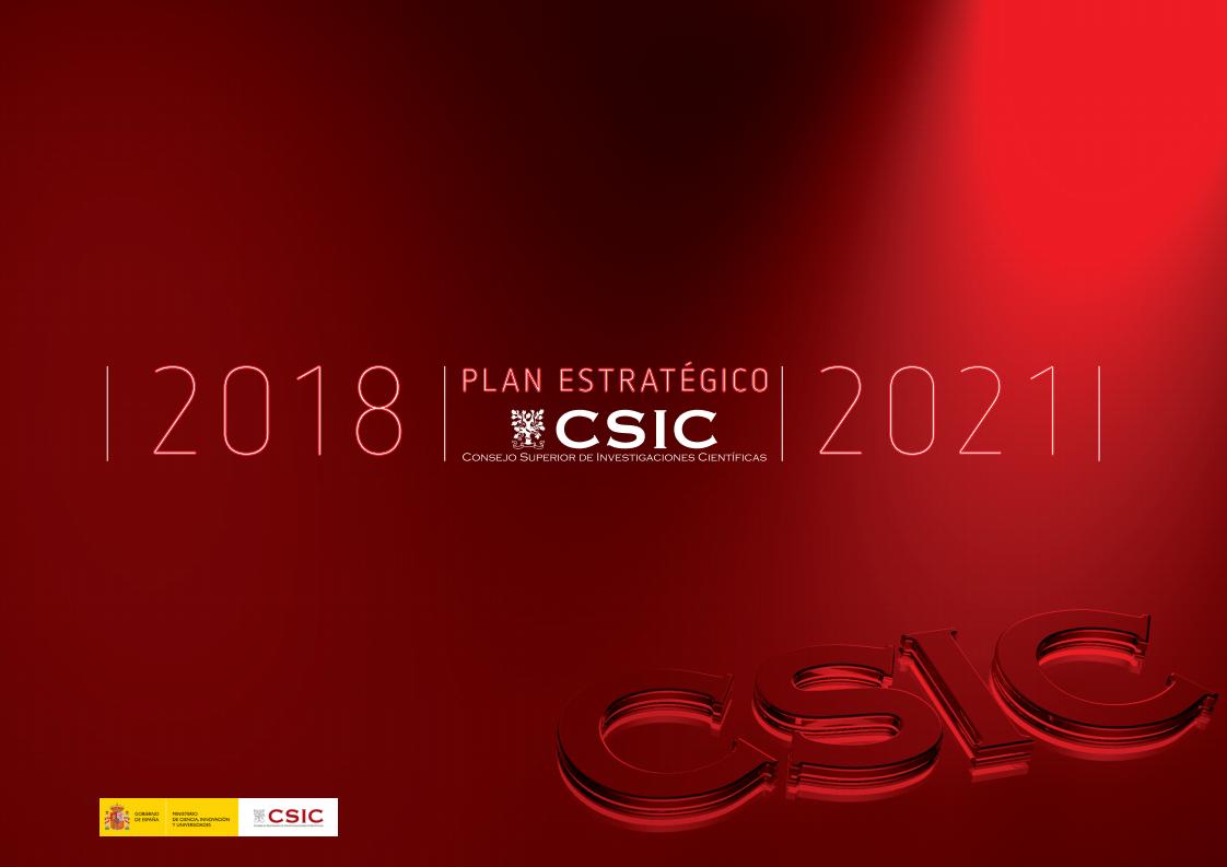 Portada Plan de Actuación del CSIC 2018-2021