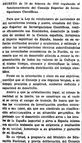 Reglamento de 10 de febrero de 1940