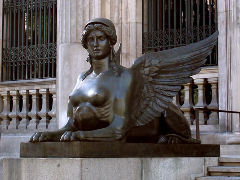 imagen de Esfinge del Museo Arqueológico Nacional, en Madrid. / Leticia Pérez Wikimedia Commons