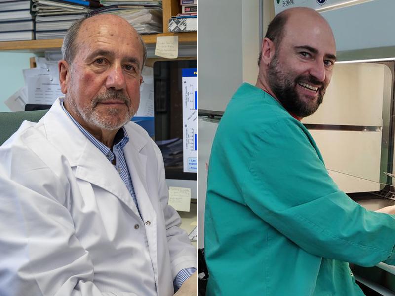 imagen de Los virólogos Mariano Esteban y Juan García Arriaza, del CNB-CSIC. / Vinca Page.-J.G. A. CSIC Comunicación