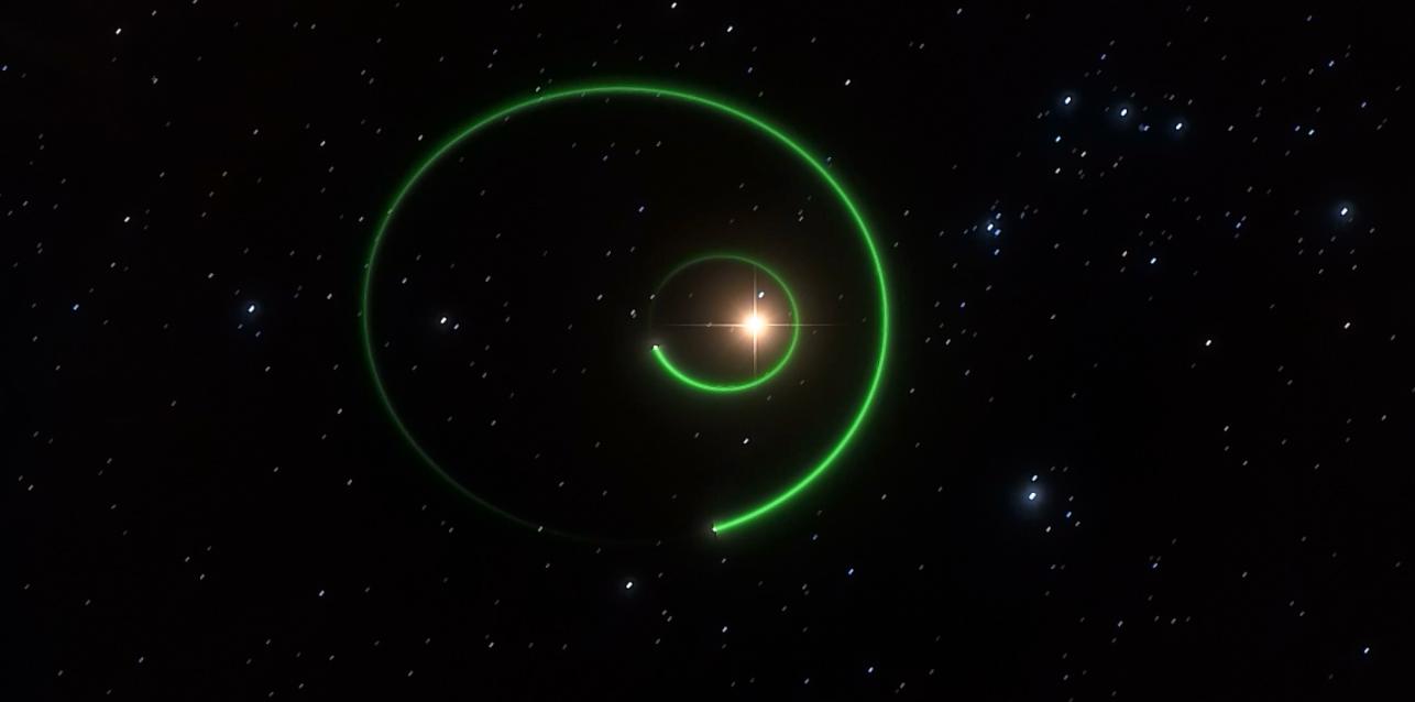 imagen de Recreación artística del exoplaneta gigante que orbita la estrella enana GJ 3512. / ICE