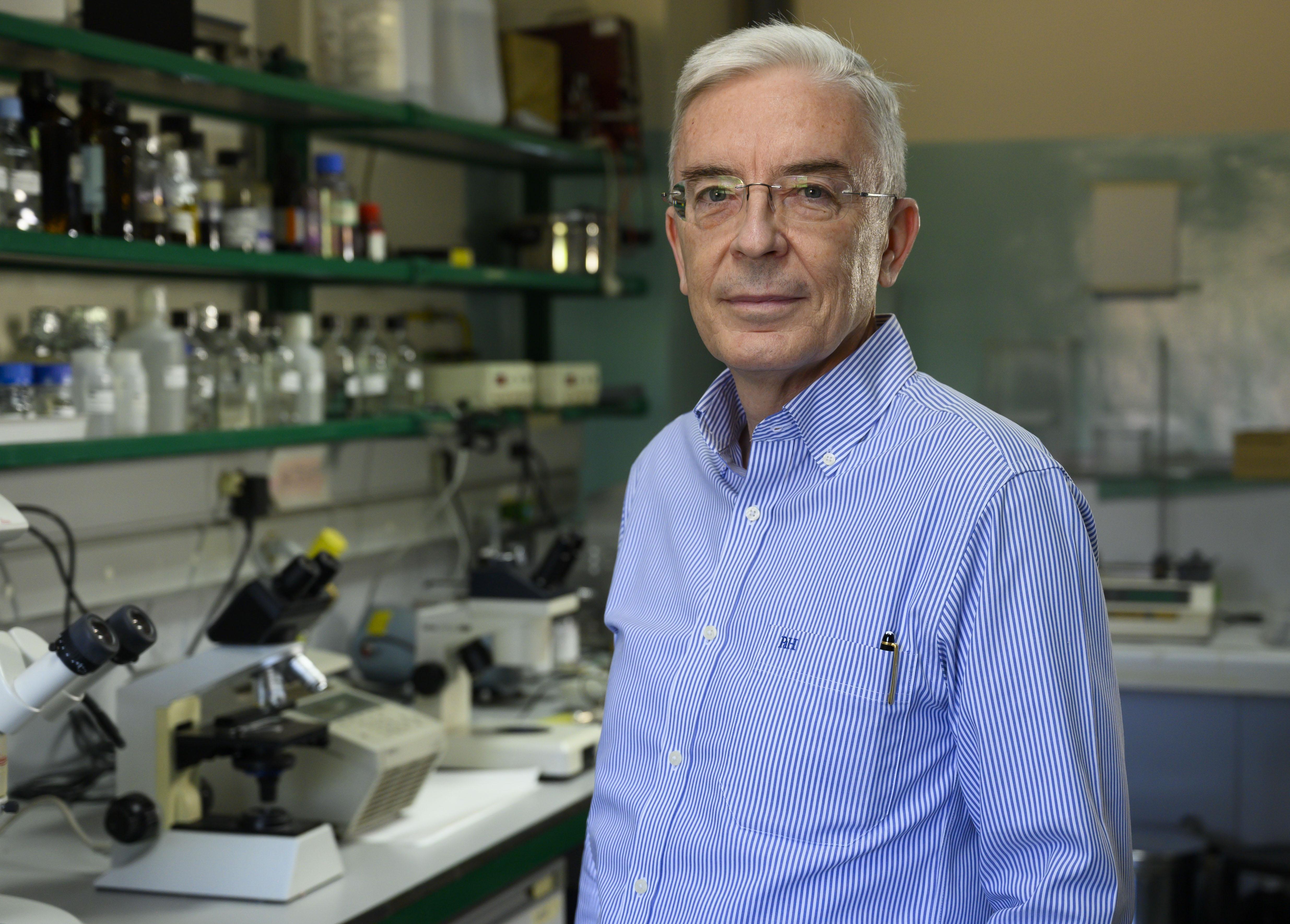 imagen de El director del IIB Alberto Sols, Mario Vallejo, investiga el metabolismo celular. / César Hernández