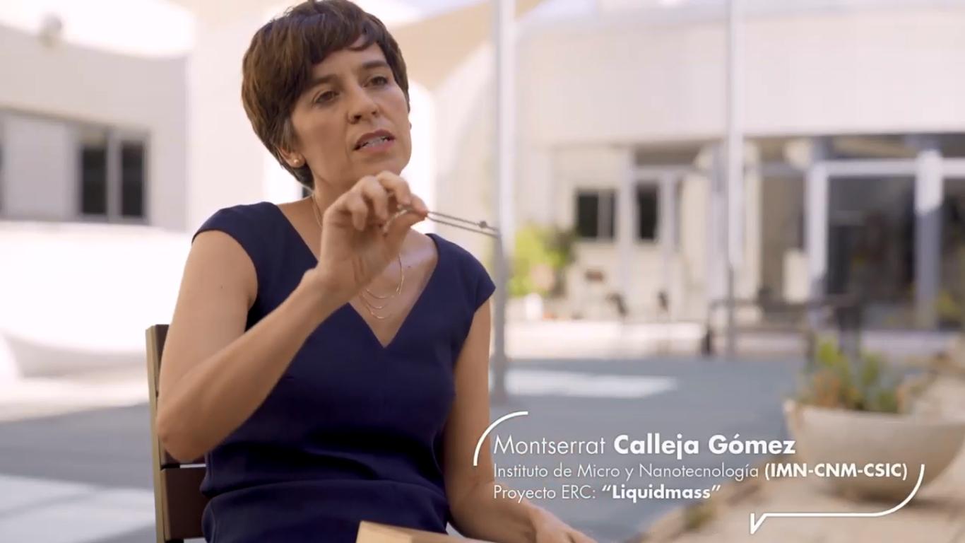imagen de Fotograma de uno de los vídeos, en el que aparece la investigadora Montserrat Calleja. / CSIC