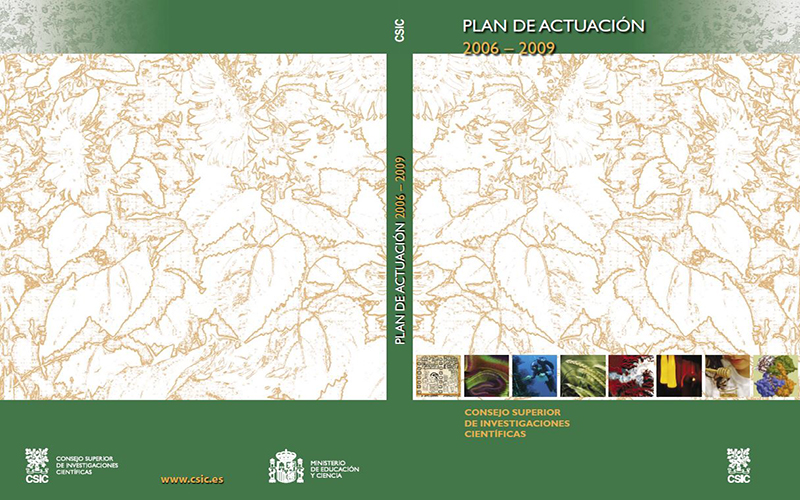 Portada Plan de Actuación del CSIC 2006-2009