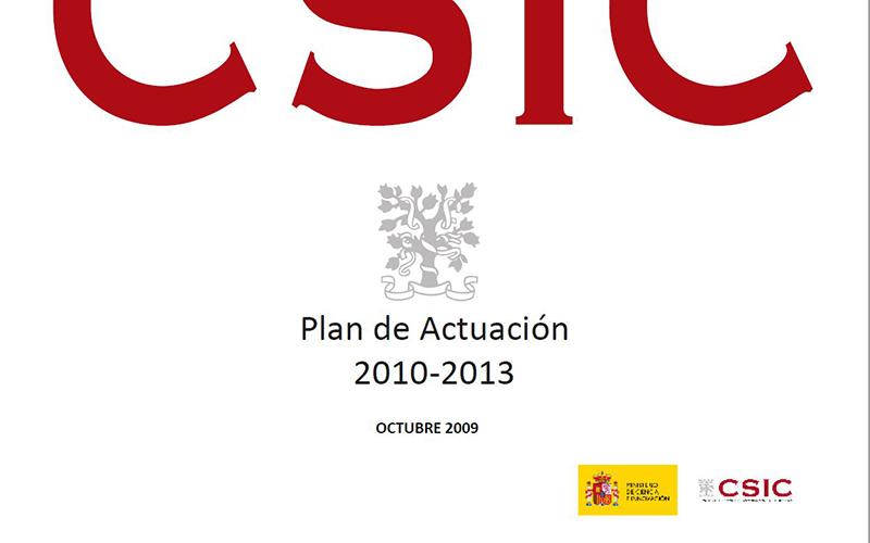 Plan de Actuación del CSIC 2010-2013