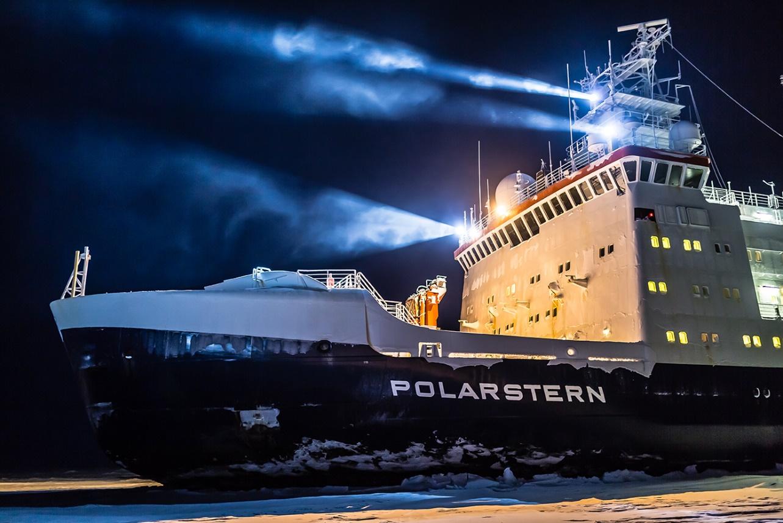 imagen de El rompehielos alemán Polarstern, que transporta a la expedición MOSAIC. / Instituto Alfred Wegener