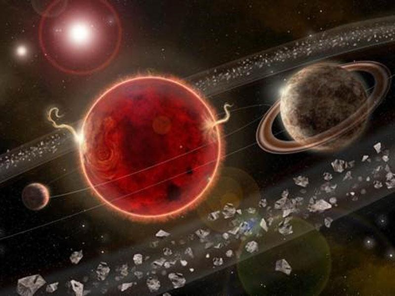 imagen de Concepción artística del sistema en torno a Próxima Centauri. / INAF.