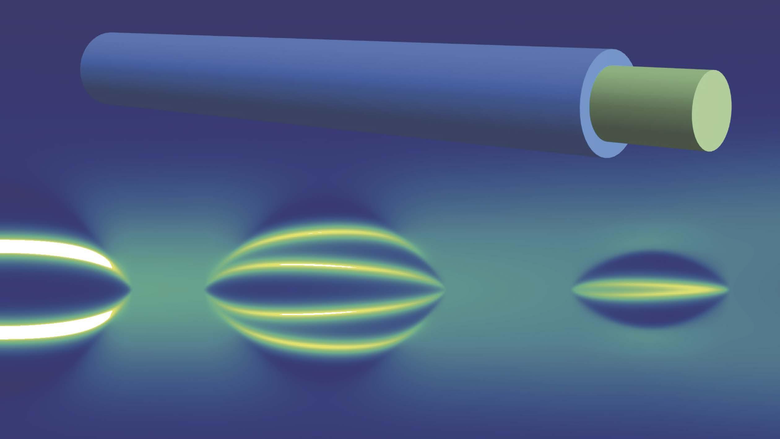 Recreación artística de un nanohilo semiconductor recubierto por una capa superconductora nanométrica.