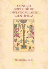 Portada Memoria 2003