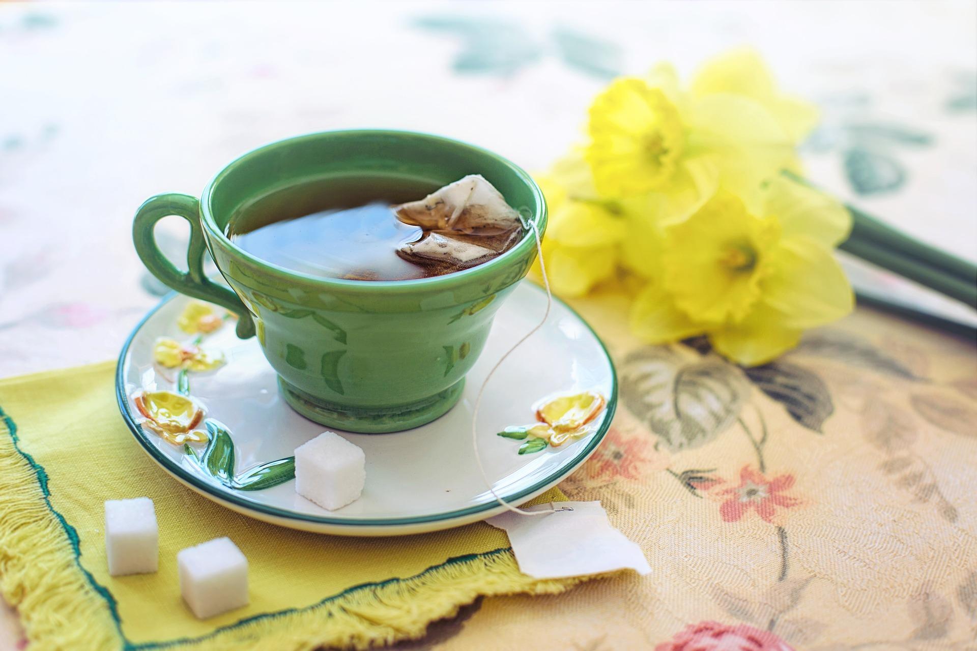 imagen de Una taza de té verde. / Pixabay